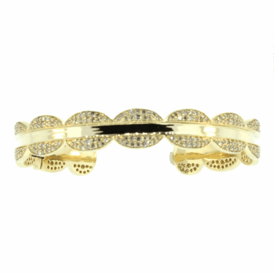 Hinged Cuff Gold Bracelet