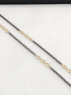 White Topaz Triple Station Necklace