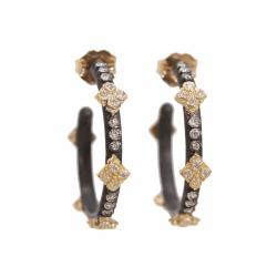 Closeup photo of Crivelli Hoop Diamond Earrings - Small