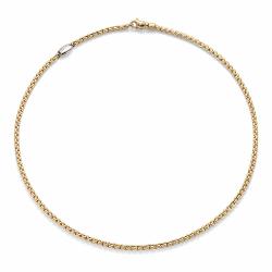 Closeup photo of Eka Tiny Yellow Gold Necklace 30''