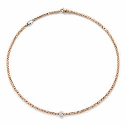 Closeup photo of Eka Tiny Pave Diamond Necklace 26''