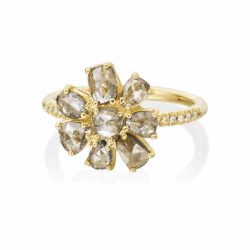 Diamond Slice flower ring