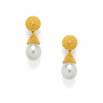 View image 2 for Luxor Earring - Pearl Drop