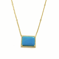 TURQUOISE BAR LAYLA NECKLACE