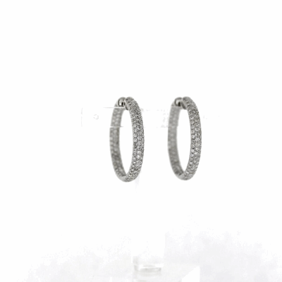 Estate Diamond Hoops