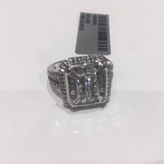 .36ctw RD & .60ctw TB, Signed HDS 14k White Gold