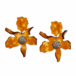 Closeup photo of Crystal Lily Earrings