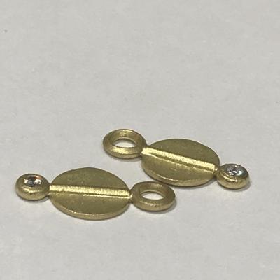 18k Mini Circle Charms