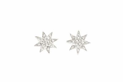 18k 8 Point Starburst Earrings