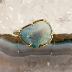 Boulder Opal Hope Ring
