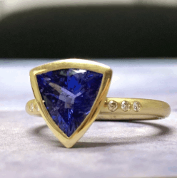 Carmen Tanzanite and Diamond Ring