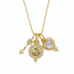 Closeup photo of 18k Amore Charm Necklace