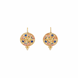Closeup photo of 18k Pave Sorcerer Earring