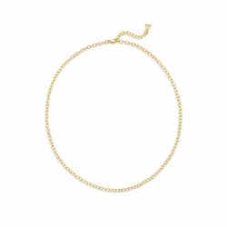 """Closeup photo of 18k Extra Small Oval Chain - 24"""""""