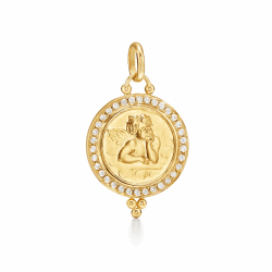 Closeup photo of 18K Angel Pendant - Medium
