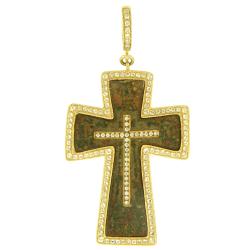 White Aqua Bezel Old Believer Male Cross