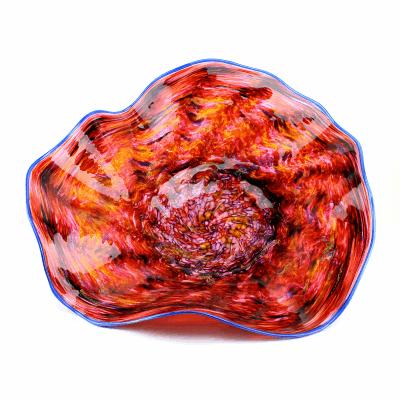 Blood Tangerine Glass Platter