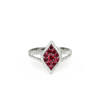 View image 2 for Ruby And Diamond Lotus Ring