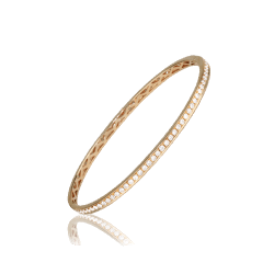 Closeup photo of Rose Gold Diamond Bracelet