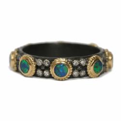 Boulder Opal Stack Ring