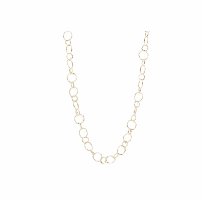 Circle Link Necklace  18Inch