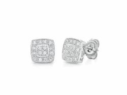 Classique Square Diamond Studs