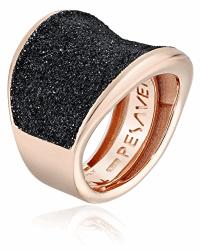 Closeup photo of Small Saddle Pesavento Polvere Adjustable Ring, Black Dust