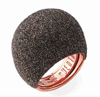 Large Dome Polvere Di Sogni Ring - Rose Gold & Antelope Dust