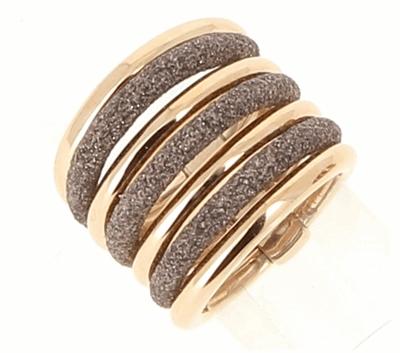 7 Band Polvere Combo Ring - Rose Gold & Antilope Dust