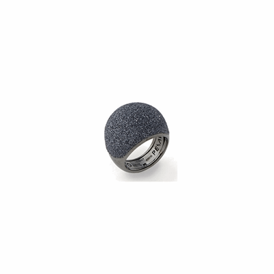 Medium Dome Polvere Di Sogni Ring - Ruthenium & Dark Gray Dust
