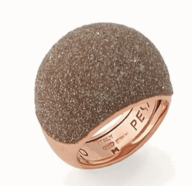 Medium Dome Polvere Di Sogni Ring - Rose Gold & Beige Dust