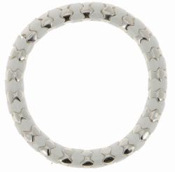 Closeup photo of Rhodium & White Ceramic Scales Lux Bracelet