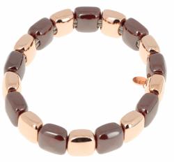 Closeup photo of Rose Gold & Dark Brown Ceramic Lux Bracelet