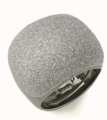 Small Pillow Polvere Di Sogni Ring - Ruthenium & Light Gray Dust