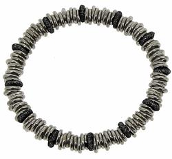 Closeup photo of Metalworks Full Unisex Polvere Bracelet - Ruthenium & Black Dust