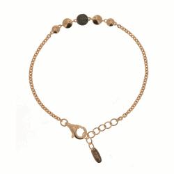 Closeup photo of Untie Single Polvere Circle Bracelet - Rose Gold & Dark Brown Dust