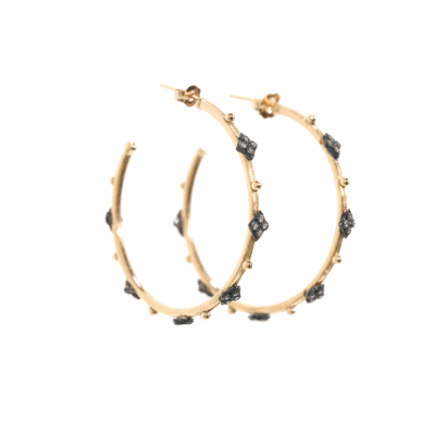 Crivelli Hoop Diamond Earrings - Medium - 02101