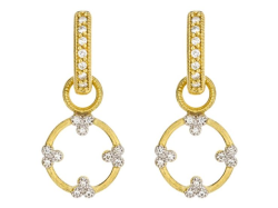 Provence Champagne Open Circle Trio Earring Charms
