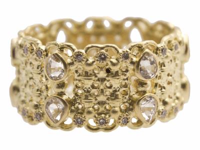 18k Yellow Gold Ring - 13310