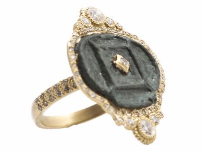 18k Yellow Gold Ring - 13626