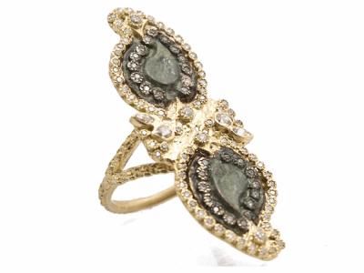 18k Yellow Gold Ring - 10565