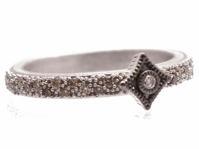 Oxidized Sterling Silver Ring - 10719.0