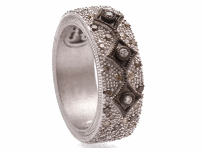 Oxidized Sterling Silver Ring - 10718.0