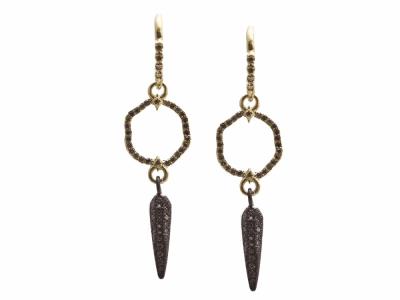 Champagne Diamond Earring - 13612