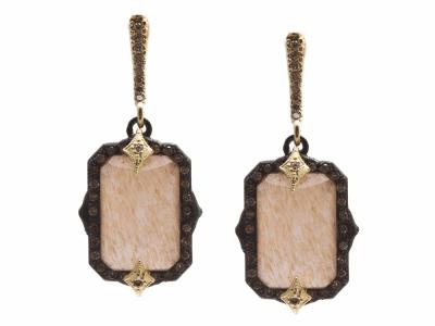 Champagne Diamond Earring - 13857