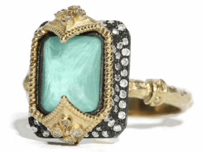 Green Turquoise Ring - 02761