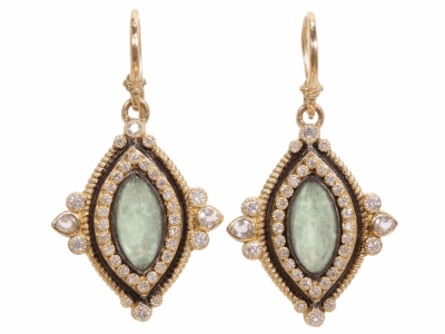 Green Turquoise Earring - 02848