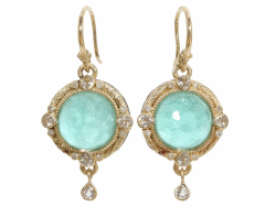 Closeup photo of Green Turquoise Earring - 03320