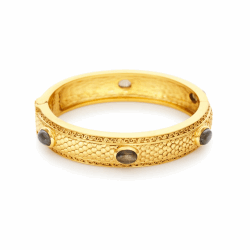 Closeup photo of Medici 6-Stone Hinge Bangle