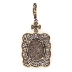 Antique St. Benedict Medal with Cross